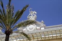 Monaco. Casino de Monte Carlo. Details of the facade of Monte Carlo Casino in Monaco, on the side facing the sea Royalty Free Stock Photography