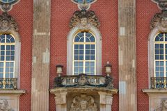 Details facade of New Palace Sanssouci Stock Photography