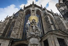 St. Stephen`s Cathedral in Vienna royalty free stock image