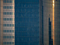 Details of facades of dynamic business buildings in Frankf Stock Photos