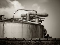 Details of a facility. Details of an industrial facility royalty free stock images