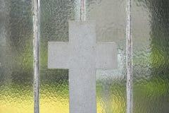 Details of a Fallen soldier's grave. Details of a Fallen soldier's grave,white cross in a sere in Vic-sur-Cere, France Stock Photography