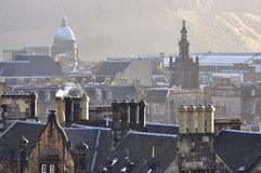 Houses detail. Details of the fascination houses and architecture of Edinburgh Royalty Free Stock Image