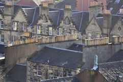 Houses detail. Details of the fascination houses and architecture of Edinburgh stock image