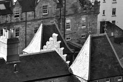Houses detail. Details of the fascination houses and architecture of Edinburgh stock photography