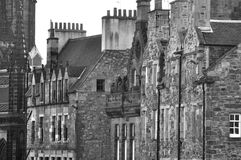 Houses detail. Details of the fascination houses and architecture of Edinburgh Royalty Free Stock Photos