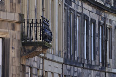 Balcony. Details of the fascination houses and architecture of Edinburgh Royalty Free Stock Image
