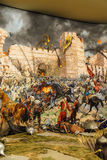 Details of the final assault of Constantinople. Details of the final assault and the fall of Constantinople in 1453.  painting in Askeri Museum, Istanbul Stock Image