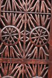 Details of a Fine Wood Door carving art. An Islamic Art and craft. Royalty Free Stock Images