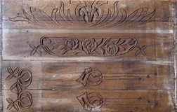 Details of a fine wood carving art. Royalty Free Stock Photos