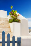 Details of Fira architecture Stock Image