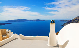 Details of Fira architecture Stock Images