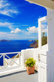 Details of Fira architecture Royalty Free Stock Images