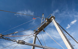 Details of fishing boat and blue sky Stock Images