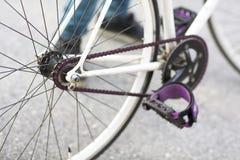 Details of fixed bike Stock Photo