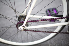 Details of fixed bike Stock Photos