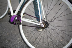 Details of fixed bike Royalty Free Stock Image