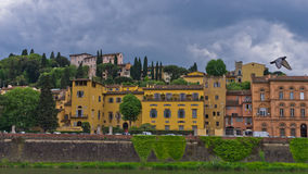 Details of Florence architecture along banks of river Arno, Tuscany Stock Photo