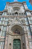 Details of Florence Cathedral, a church in Italy stock photos