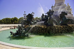 Details of fountain in Bordeaux Royalty Free Stock Photography