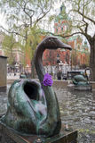 Details of the Fountain by J. P. Molin in Stockholm, Sweden Royalty Free Stock Image