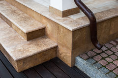 Details and fragments of architecture, private house, steps made Stock Image