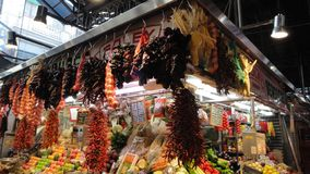 Details of La Boqueria stock photo