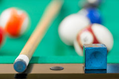Details of the game of billiards Stock Images