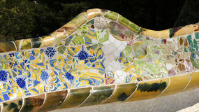 Details of Gaudi bench Royalty Free Stock Image