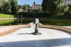 Generalife`s Gardens Of Granada, Andalucia Spain stock photo