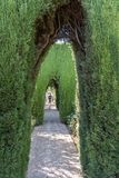 Generalife`s Gardens Of Granada, Andalucia Spain. Details Of Generalife`s Gardens Of Granada Royalty Free Stock Image
