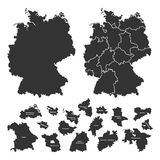 Details of german map Royalty Free Stock Photos