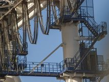 Details of giant container crane Royalty Free Stock Image