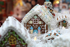 Details of gingerbread house Stock Images