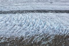 Details of glacier Aletsch surface with crevasses Royalty Free Stock Images