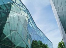 Details of glass archtecture Royalty Free Stock Image