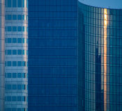 Details of glass facades of business buildings in Frankfurt, Germany Royalty Free Stock Image