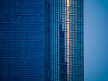 Details of glass facades of a skyscraper in Frankfurt Royalty Free Stock Photos