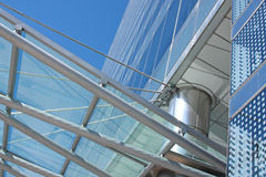 Details of a glass and steel buildin. Architectural details of a glass and steel office building Stock Photography