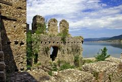 Details of Golubac fortress in Serbia Royalty Free Stock Photography