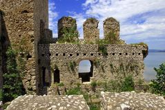 Details of Golubac fortress in Serbia Stock Photo