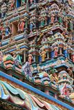 Details of the Gopuram. (large pyramidal tower), The signature architecture of the entrance at Sri Mahamariamman Indian Temple, Kuala Lumpur, Malaysia Royalty Free Stock Photography