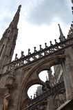 Details of a gothic cathedral. Close up of a flying buttress and architecture of a gothic cathedral Royalty Free Stock Photography