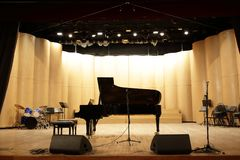 Details of grand piano stock image