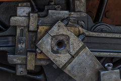 Details of greasy machinery / steam engine Stock Photography