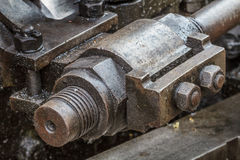 Details of greasy machinery / steam engine Royalty Free Stock Photos