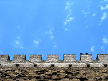 Details of Great Wall. Details of chinese great wall in Beijing city Royalty Free Stock Photos