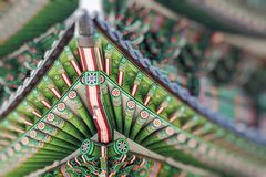 Details of  Gyeongbokgung  Palace. Traditional Architecture in K Stock Photos