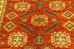 Details of hand woven carpets Stock Photos