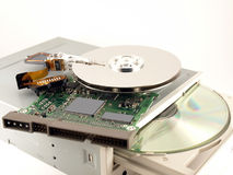 Details for hard drives and CD-ROM Royalty Free Stock Photo